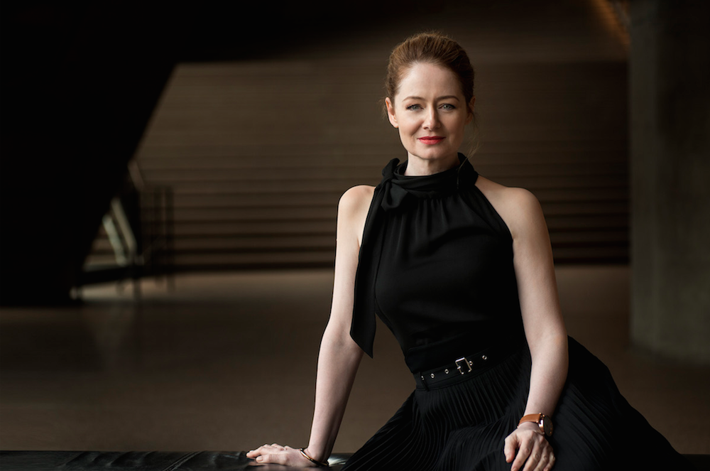 Miranda Otto on set of Dance Academy: The Movie at Sydney Opera House. Photo by Simon Cardwell.