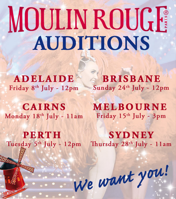 Moulin Rouge to host 6-City Audition Tour in Australia