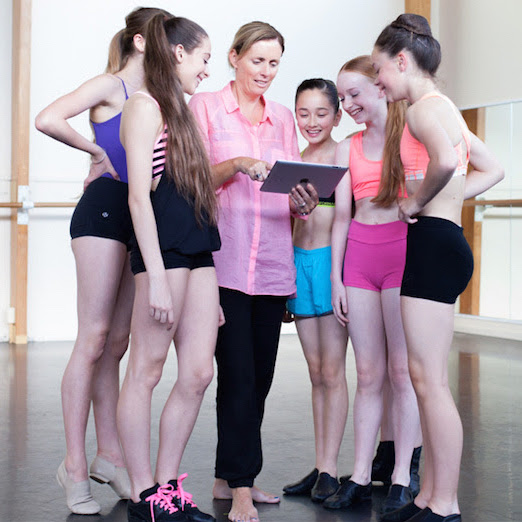 Interactive learning hub for dance schools