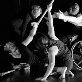 Special needs dancers in Days Like These rehearsal