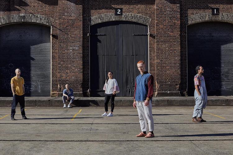 Australian choreographers Melanie Lane, Tyrone Robinson, Petros Treklis, Cass Mortimer Eipper, Nelson Earl