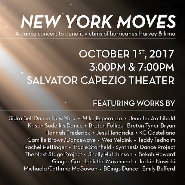 New York Moves Benefit Concerts at Peridance