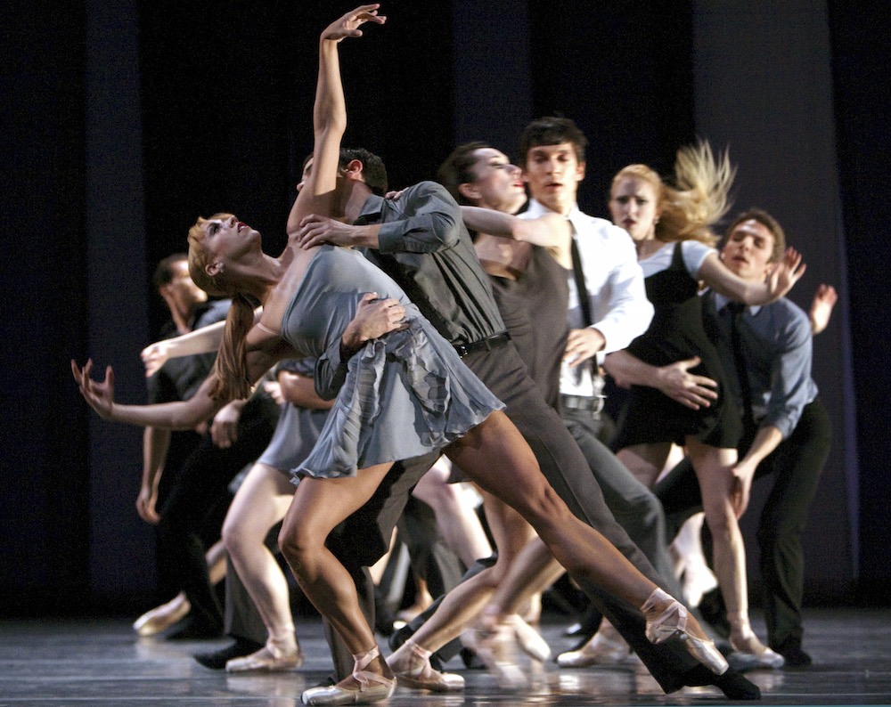 PNB dancers in the company's 2008 world premiere of Benjamin Millepied's 3 Movements