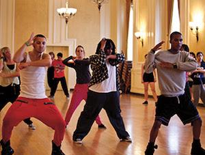 Hip hop class at Pasadena Dance Festival
