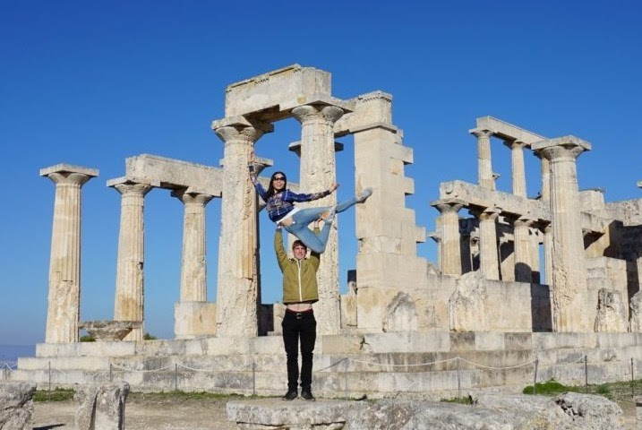 Royal New Zealand Ballet dancers Mayu Tanigaito and Joseph Skelton in Greece