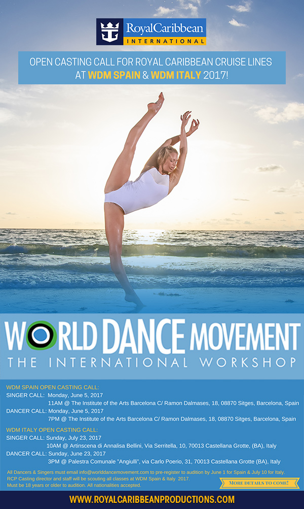 Royal Caribbean Auditions at World Dance Movement