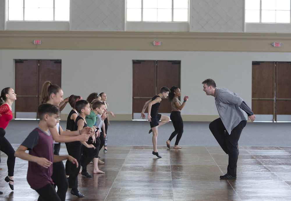 Choreographer Warren Carlyle and contestants during Academy
