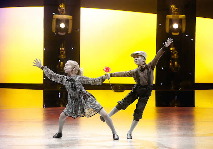 """Top 6 contestants J.T. Church (R) and Emma Hellenkamp (L) perform a Contemporary routine to """"I Will Never Forget You"""" choreographed by Travis Wall on August 22. Photo by Adam Rose"""