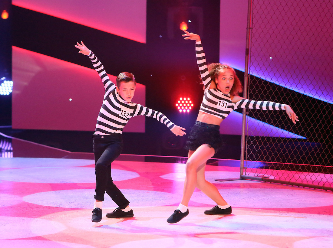Top 10 contestants Jake and Tahani perform a jive routine to