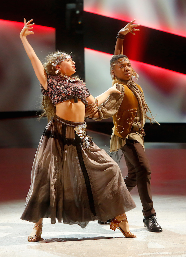 Kida and Tate dancing a mature Paso Doble choreographed by Mark Ballas