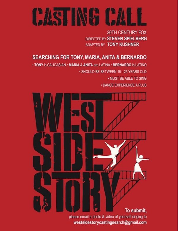 West Side Story film remake casting call