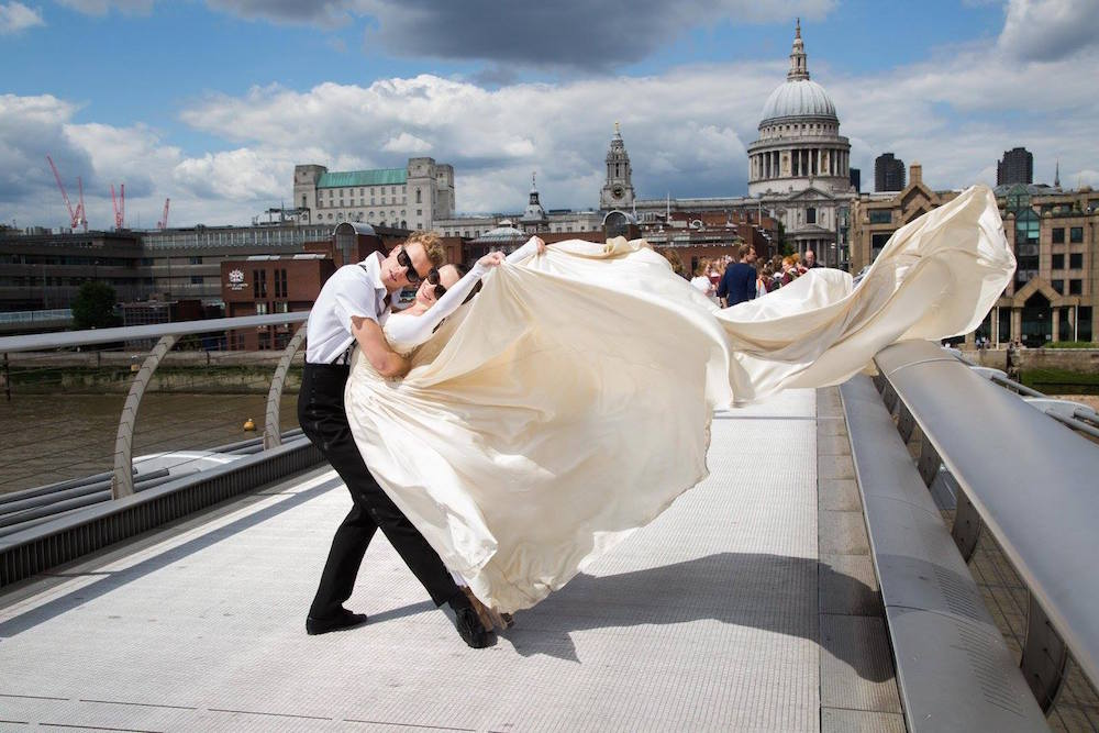 Adam Bull and Amber Scott in London with The Australian Ballet on Tour