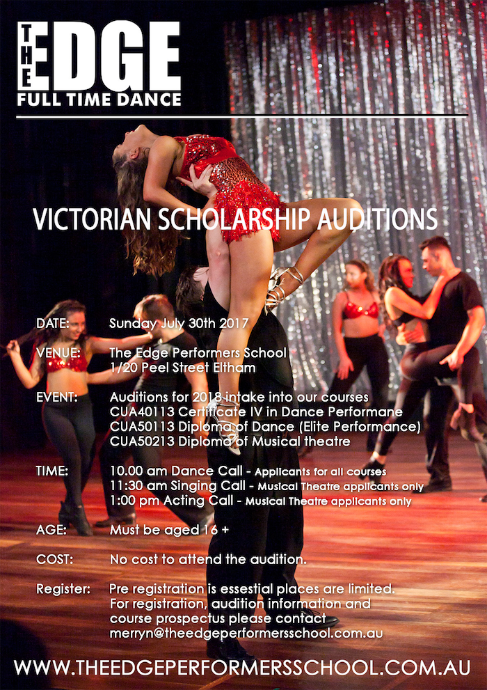 Melbourne Full Time Dance Auditions 2017