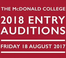 The McDonald College 2018 entry auditions