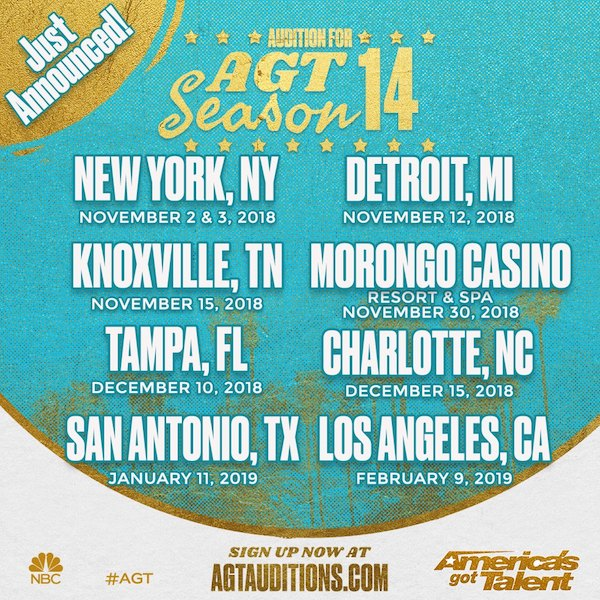Talent Search for AGT by NBC Network