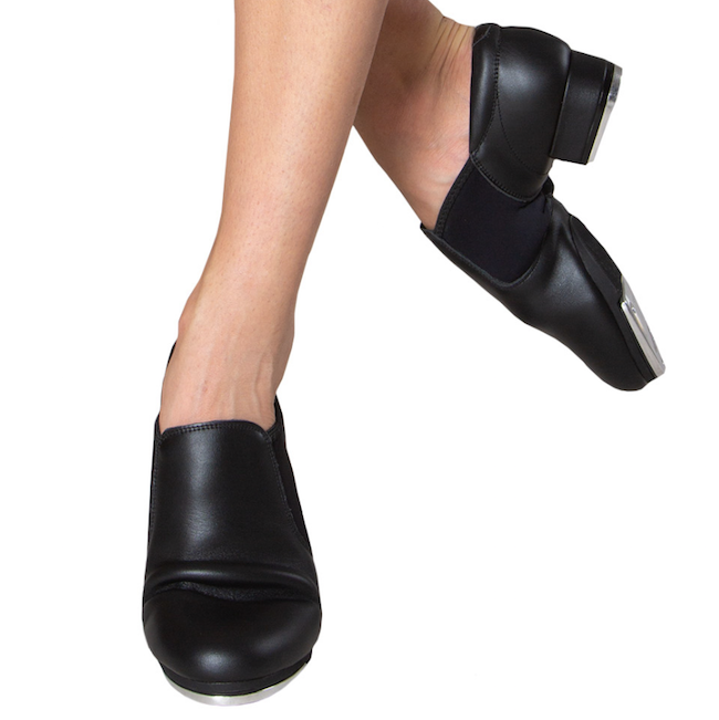 Black Slip On Tap Shoes