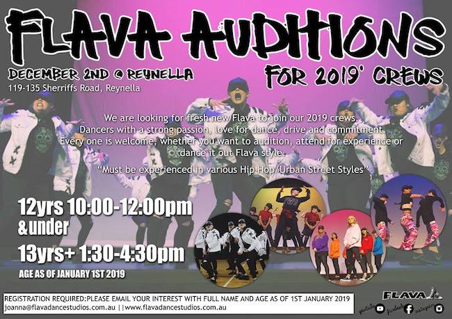 Dance crew auditions South Australia
