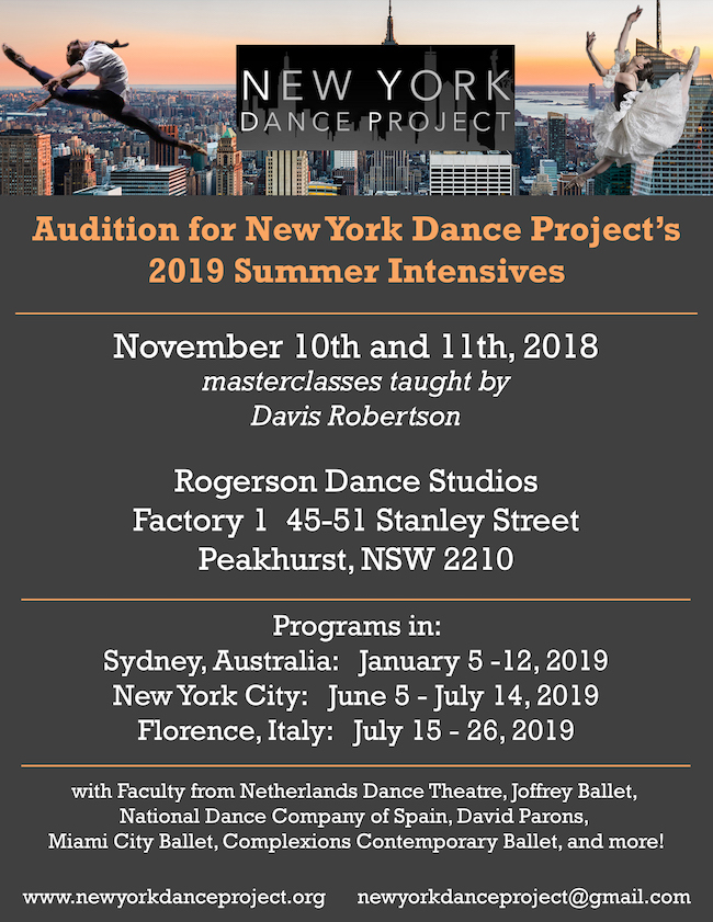 Sydney Australia Dance Audition