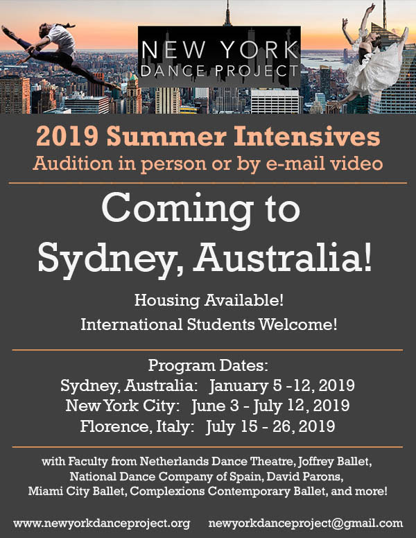 Summer Intensive in Sydney, Australia