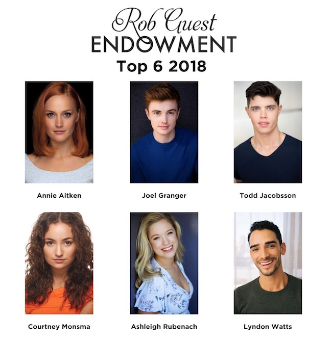 Top 6 for Rob Guest Endowment 2018