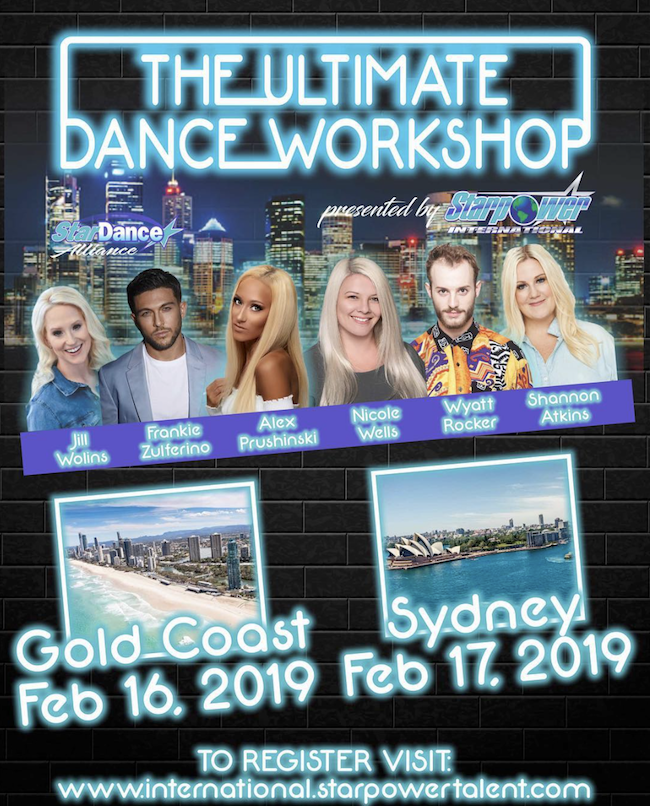 Gold Coast and Sydney Dance Workshops