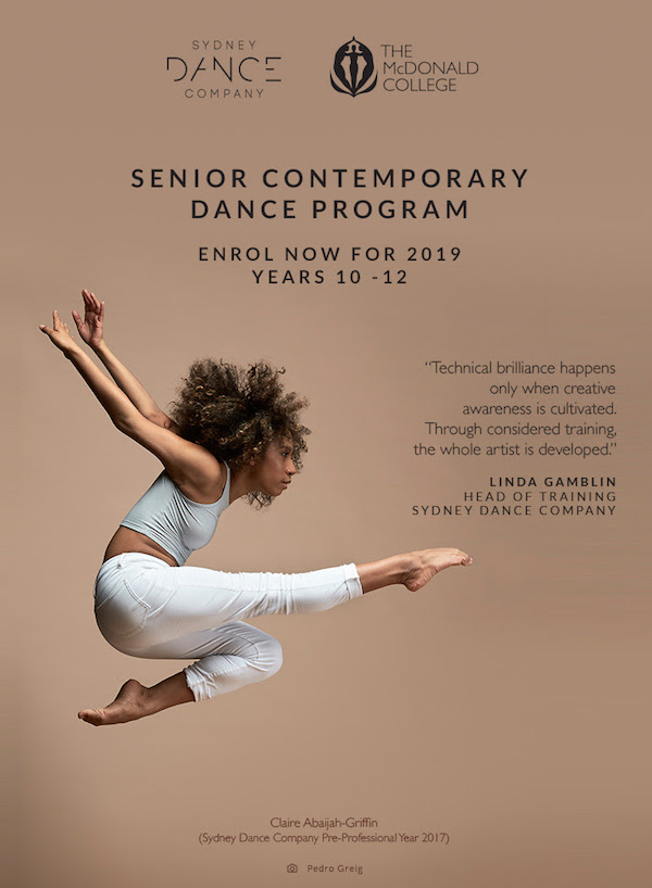 Sydney Dance Company and The McDonald College