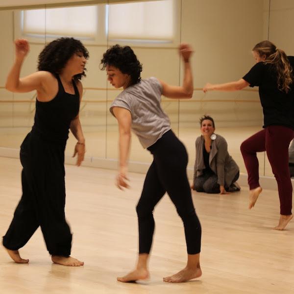 Ana Maria Alvarez works with dancers and USC Kaufman students