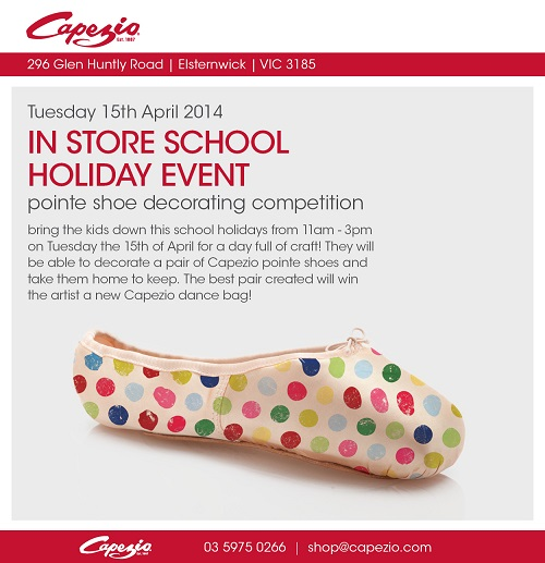 Capezio pointe shoe decorating day dance informa australia for Ballet shoes christmas decoration