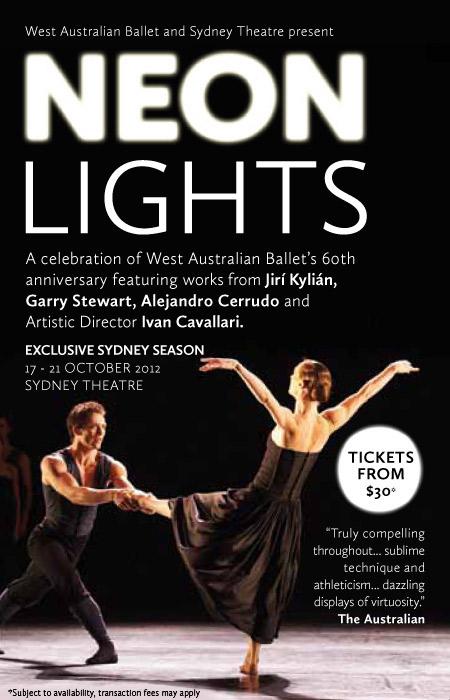 WA Ballet Neon Lights at Sydney Theatre