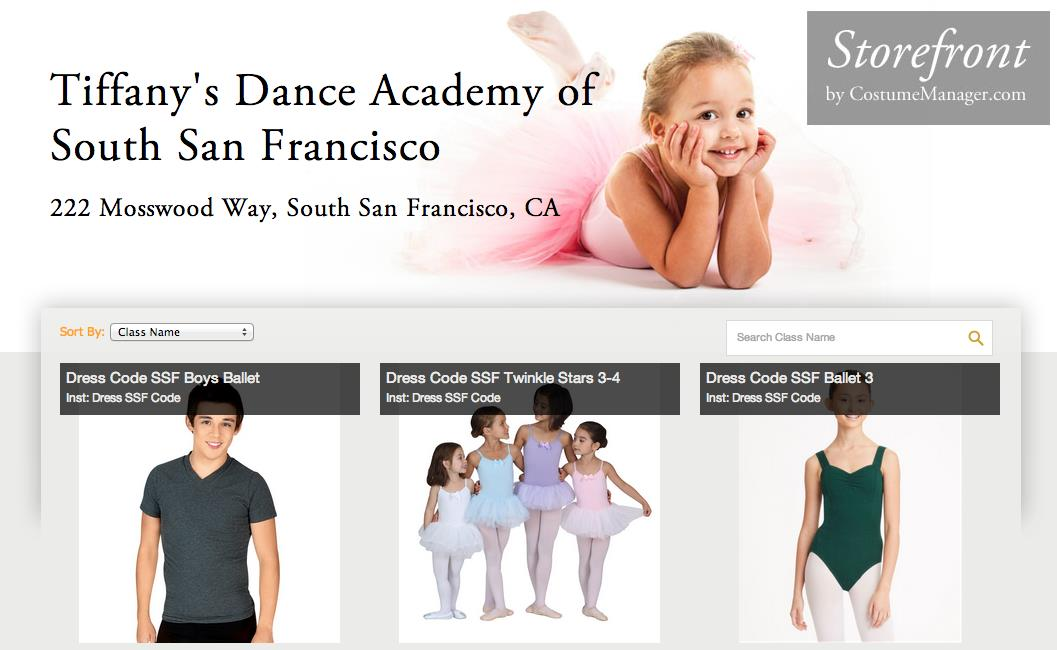 Storefront Fundraising example